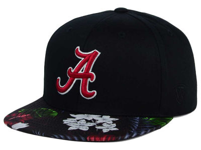 Alabama Crimson Tide Top of the World NCAA Paradise Snapback Cap