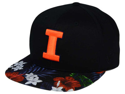 Illinois Fighting Illini Top of the World NCAA Paradise Snapback Cap
