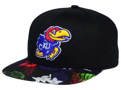 Kansas Jayhawks Top of the World NCAA Paradise Snapback Cap