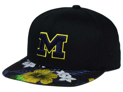 Michigan Wolverines Top of the World NCAA Paradise Snapback Cap