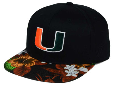 Miami Hurricanes Top of the World NCAA Paradise Snapback Cap
