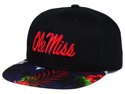 Ole Miss Rebels Top of the World NCAA Paradise Snapback Cap