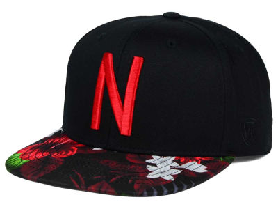 Nebraska Cornhuskers Top of the World NCAA Paradise Snapback Cap