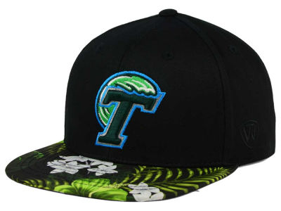 Tulane Green Wave Top of the World NCAA Paradise Snapback Cap