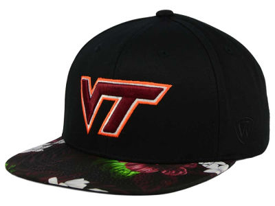 Virginia Tech Hokies Top of the World NCAA Paradise Snapback Cap