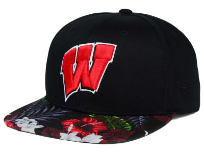 Wisconsin Badgers Top of the World NCAA Paradise Snapback Cap