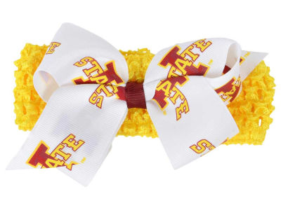 Iowa State Cyclones Crocheted Headband With Jr Bow