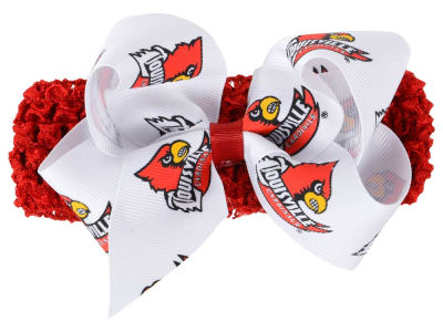 Louisville Cardinals Crocheted Headband With Jr Bow