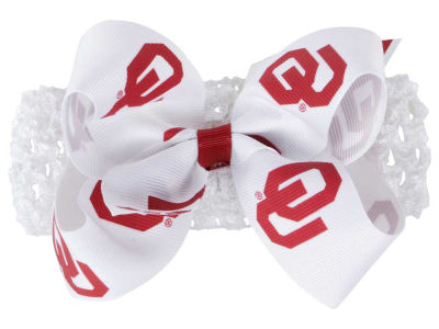 Oklahoma Sooners Crocheted Headband With Jr Bow