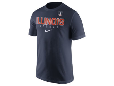 Illinois Fighting Illini Nike NCAA Mens Cotton Practice T-Shirt