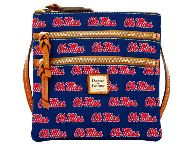 Ole Miss Rebels Dooney & Bourke Triple Zip Crossbody Bag