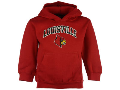 Louisville Cardinals NCAA Youth Wordmark Arch Logo Crew Fleece Sweatshirt