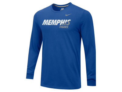 Memphis Tigers NCAA Men's Wedge Cotton Long Sleeve T-Shirt