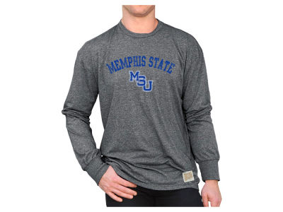 Memphis Tigers Retro Brand NCAA Mock Twist Long Sleeve T-Shirt