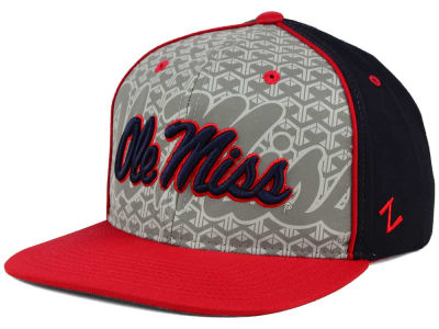 Ole Miss Rebels Zephyr NCAA Reflector Snapback Cap