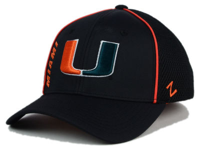 Miami Hurricanes Zephyr NCAA Punisher Stretch Hat