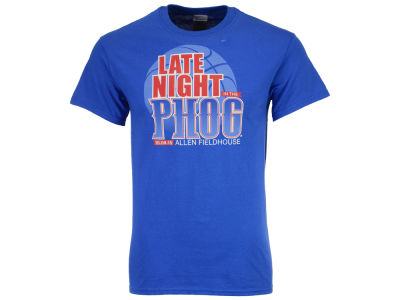 Kansas Jayhawks NCAA 2015 Men's Late Night in the Phog Logo T-Shirt