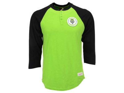 Seattle Sounders FC Mitchell and Ness MLS Men's Unbeaten Henley Shirt
