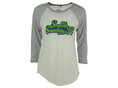 Seattle Sounders FC Mitchell and Ness MLS Women's Script Ragland T-Shirt