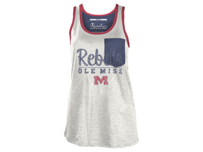 Ole Miss Rebels NCAA Women's Campbell Pocket Slub Tank