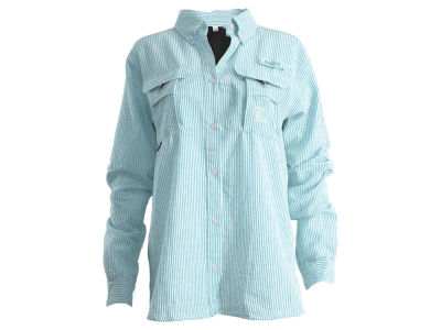 Ole Miss Rebels NCAA Women's Angler Seersucker Button Down Shirt