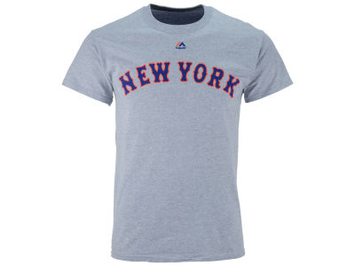 New York Mets Majestic MLB Men's Official Wordmark Team T-Shirt