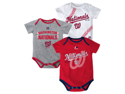 Washington Nationals MLB Newborn Three Strikes Bodysuit Set