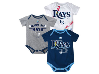 Tampa Bay Rays MLB Newborn Three Strikes Bodysuit Set