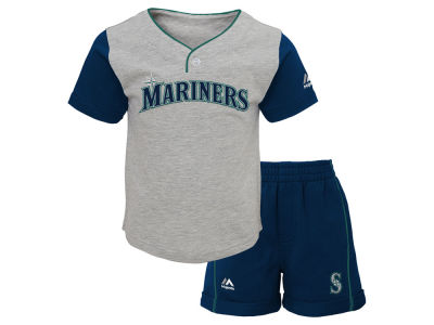 Seattle Mariners MLB Infant Batting Practice Short Set