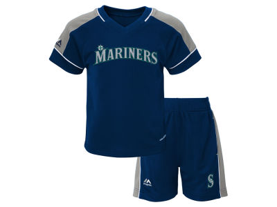 Seattle Mariners Majestic MLB Toddler Baseball Classic Short Set