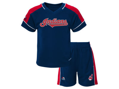 Cleveland Indians Majestic MLB Toddler Baseball Classic Short Set