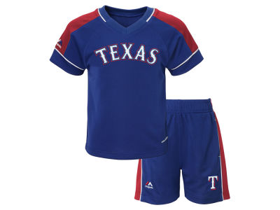 Texas Rangers MLB Toddler Baseball Classic Short Set