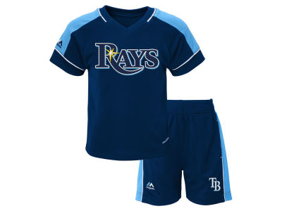 Tampa Bay Rays Majestic MLB Toddler Baseball Classic Short Set