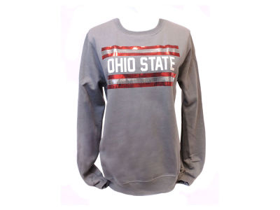 Ohio State Buckeyes NCAA Women's Double Stripe Crew Neck Sweatshirt