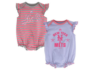 New York Mets MLB Newborn Team Sparkle 2pc Creeper