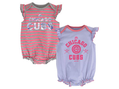 Chicago Cubs MLB Infant Team Sparkle 2pc Creeper