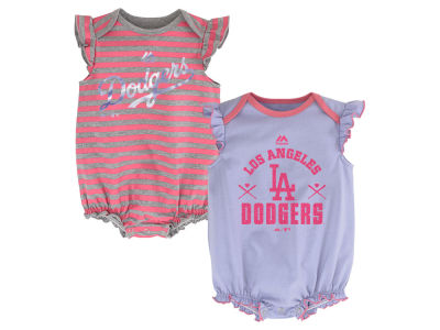 Los Angeles Dodgers MLB Infant Team Sparkle 2pc Creeper