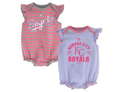 Kansas City Royals MLB Infant Team Sparkle 2pc Creeper