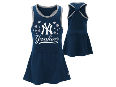 New York Yankees MLB Toddler Criss Cross Tank Dress