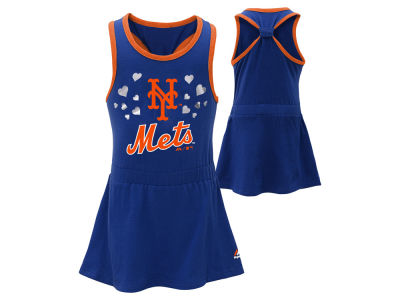 New York Mets MLB Toddler Criss Cross Tank Dress