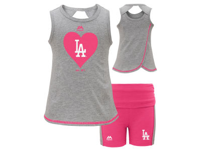 Los Angeles Dodgers MLB Toddler Girls Short Set