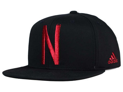Nebraska Cornhuskers adidas NCAA Black Out Snapback Hat