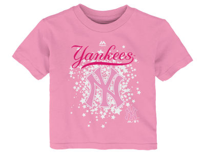 New York Yankees Majestic MLB Toddler Girls Pouring Stars T-Shirt