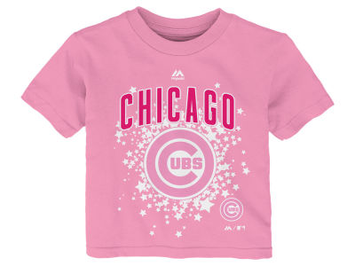 Chicago Cubs Majestic MLB Toddler Girls Pouring Stars T-Shirt