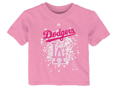 Los Angeles Dodgers Majestic MLB Toddler Girls Pouring Stars T-Shirt