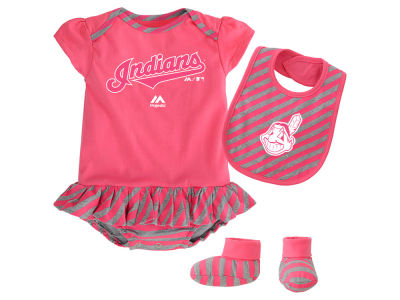Cleveland Indians MLB Newborn Girls Bib & Booty Set