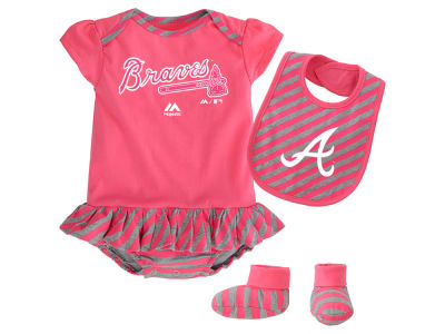 Atlanta Braves MLB Newborn Girls Bib & Booty Set