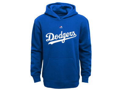 Los Angeles Dodgers Majestic MLB Youth Wordmark Fleece Hoodie