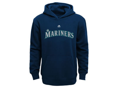 Seattle Mariners Majestic MLB Youth Wordmark Fleece Hoodie