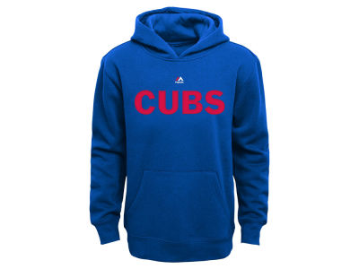 Chicago Cubs Majestic MLB Youth Wordmark Fleece Hoodie